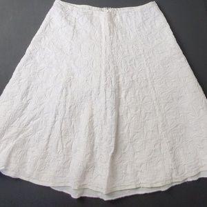 J.Crew Embroidered White Skirt